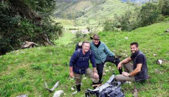 Thunderbird alumnus James Lynch leads Travel Channel expedition to Peru's Land of the Giants