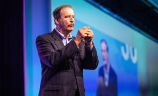 Former Mexico President Vicente Fox speaks at the ASU GSV Summit