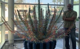 "Mixed media art piece ""Mayahuel"" by Marco Albarran on display at the Mesa Contemporary Arts Museum"