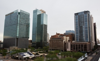 High-rise buildings in downtown Phoenix