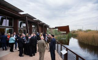 Valley leaders at Rio Salado