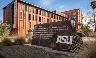 ASU charter sign on the Tempe campus