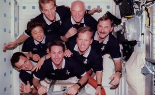 The crew of STS-95 in 1998.