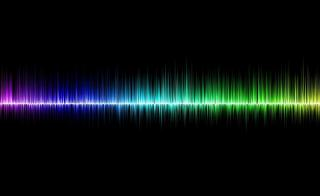 multi-color sound waves
