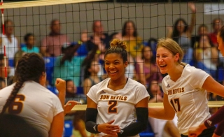 ASU Sun Devils Womens Volleyball team in 2018