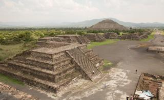 Ancient city of Teotihuacan in Mexico