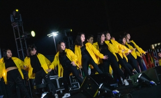 AZNA ASU students perform onstage at International Night 2019