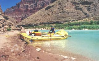 ASU professor Dave White rafting the Colorado River as a graduate student