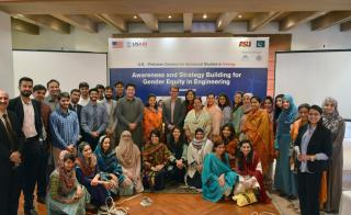 Participants of the ASU/USPCAS-E workshop on gender. Photographer: Hassan Zulfiqar/USPCAS-E