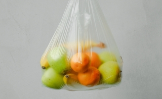 fruit in a plastic bag