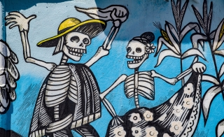 Day of the Dead graffiti