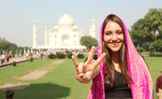 ASU student on her study abroad to India
