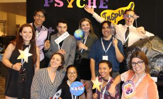 Group photo of artists from the Psyche Inspired Art Show