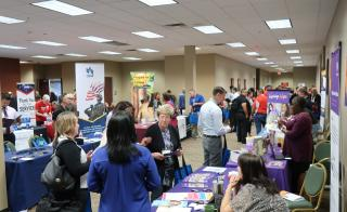 ASU Veterans Upward Bound during exhibitor fair