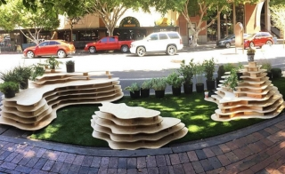 Photo of parklet created by ASU students for Park(ing) Day 2017.