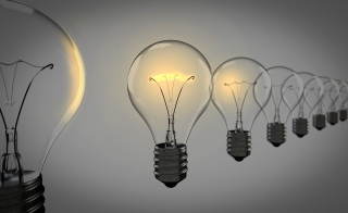 stock image of light bulbs