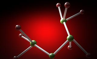 An illustration of a molecule