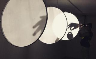 ASU School of Art grad student Lily Montgomery's art piece Distance // Cloudlight
