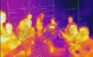 """Phoenix"" team photo using thermal imaging"