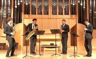 saxophone quartet performing