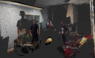 Meteor Studio Ph.D. students Aashiq Shaikh, Lauren Gold, and Alireza Bahremand experiment with virtual shared spaces in augmented reality and virtual reality from their homes in California, Texas, and Arizona respectively.