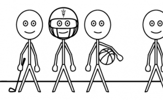 stick figures from video