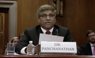 Sethuraman Panchanathan speaks before a Senate subcommittee
