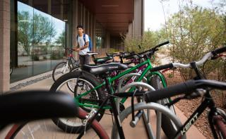 student parking bike