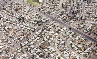 aerial view of a Phoenix neighborhood