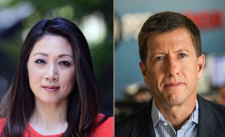 Stephanie Sy and Richard Coolidge of PBS NewsHour West