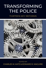 """Transforming the Police"" book cover with cogs on cover"