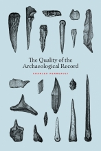 illustrations of archaeological tools on book cover