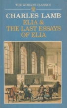 Cover of Elia and the Last Essays of Elia edited by Jonathan Bate