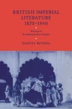 Cover of British Imperial Literature, 1870-1940