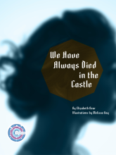 """Cover of """"Crowd Futures: We Have Always Died in the Castle"""" book, showing a woman's head in silhouette."""