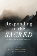 """Cover of """"Responding to the Sacred"""" co-edited by Kyle Jensen"""
