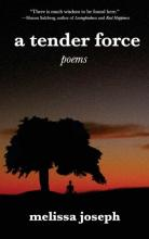 """Cover of """"A Tender Force"""" by Melissa Joseph featuring an image of a tree at dusk"""
