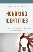 """Book cover for """"Honoring Identities"""" with hands making the shape of a lightbulb"""