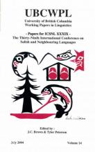 Cover of ICSNL XXXIX edited by Brown and Peterson