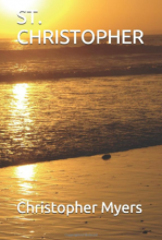 """St. Christopher"" book cover, image of a beach"