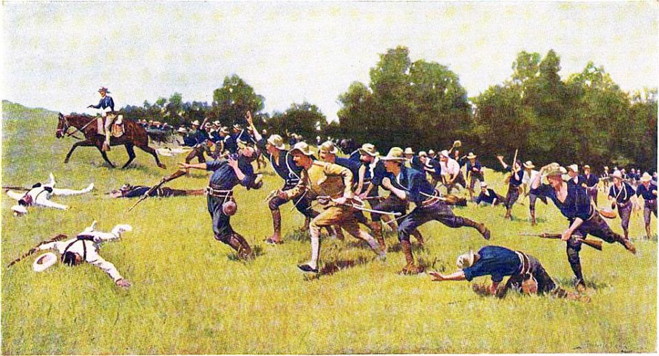 Charge of the Rough Riders at San Juan Hill by Frederic Remington