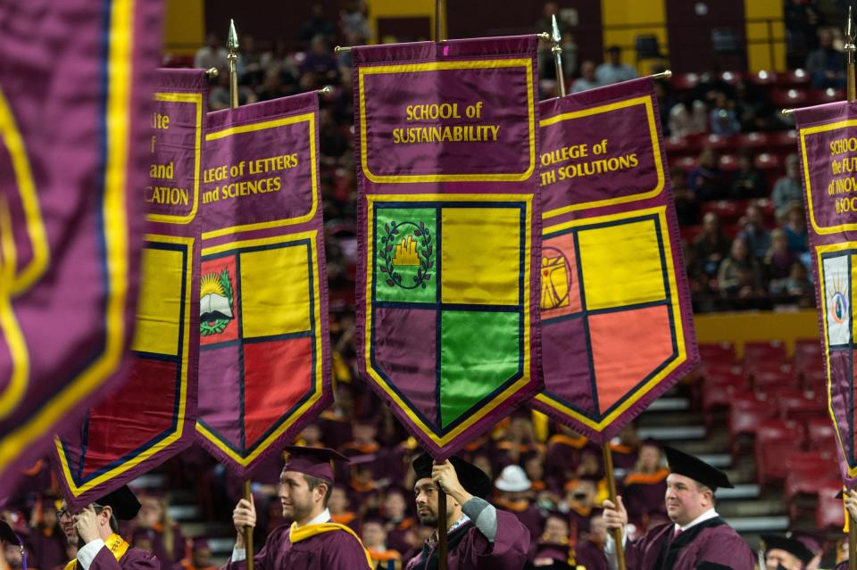 ASU's Graduate Commencement in fall 2015.