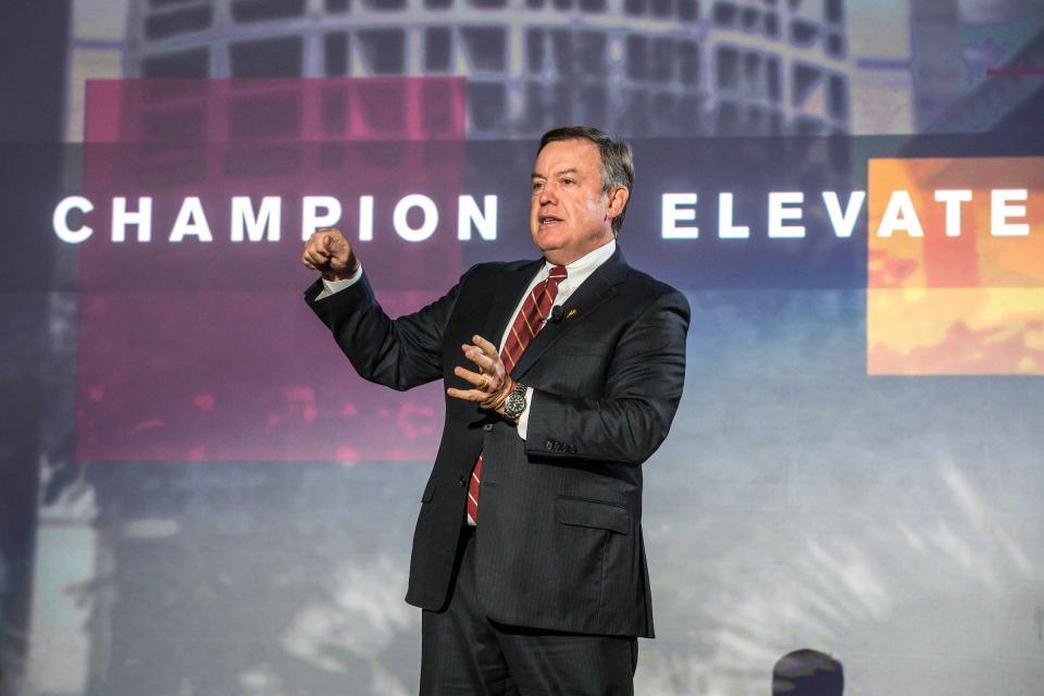 ASU President Michael Crow at Campaign ASU 2020 kickoff
