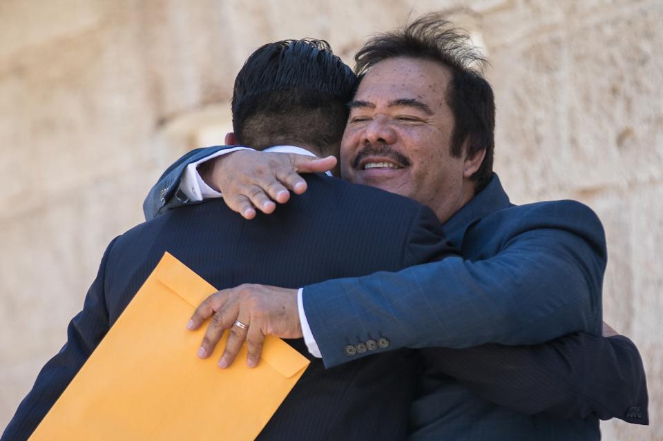 Ahumada hug