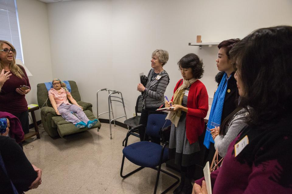 Nurses educators from Vietnam tour the SLR