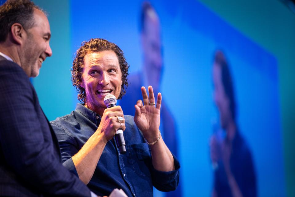 Actor Matthew McConaughey speaks at the ASU GSV Summit
