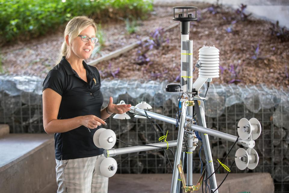 Ariane Middel with MaRTy mobile weather station