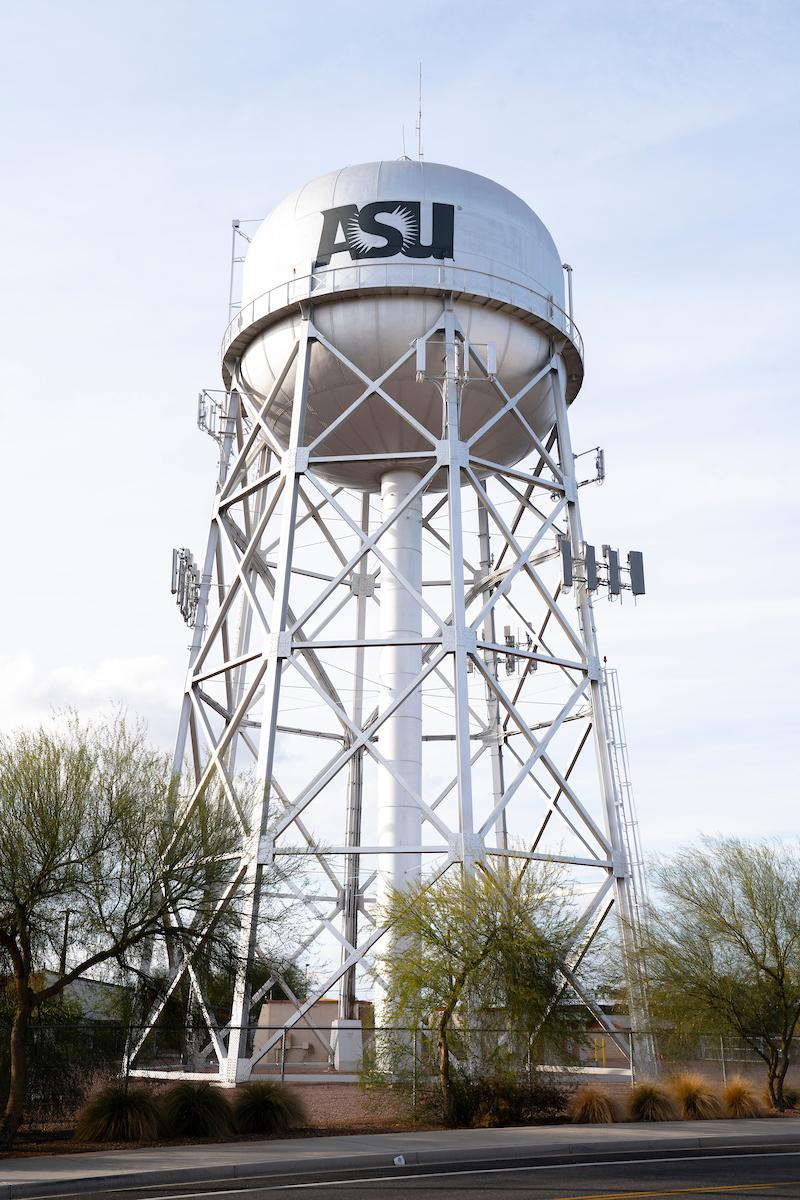 ASU Poly campus water tower