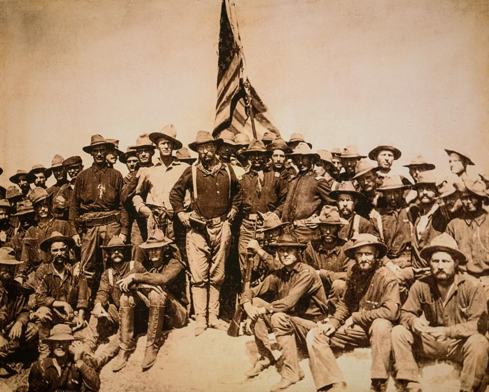 Theodore Roosevelt and the Rough Riders atop San Juan Hill, July 1, 1898