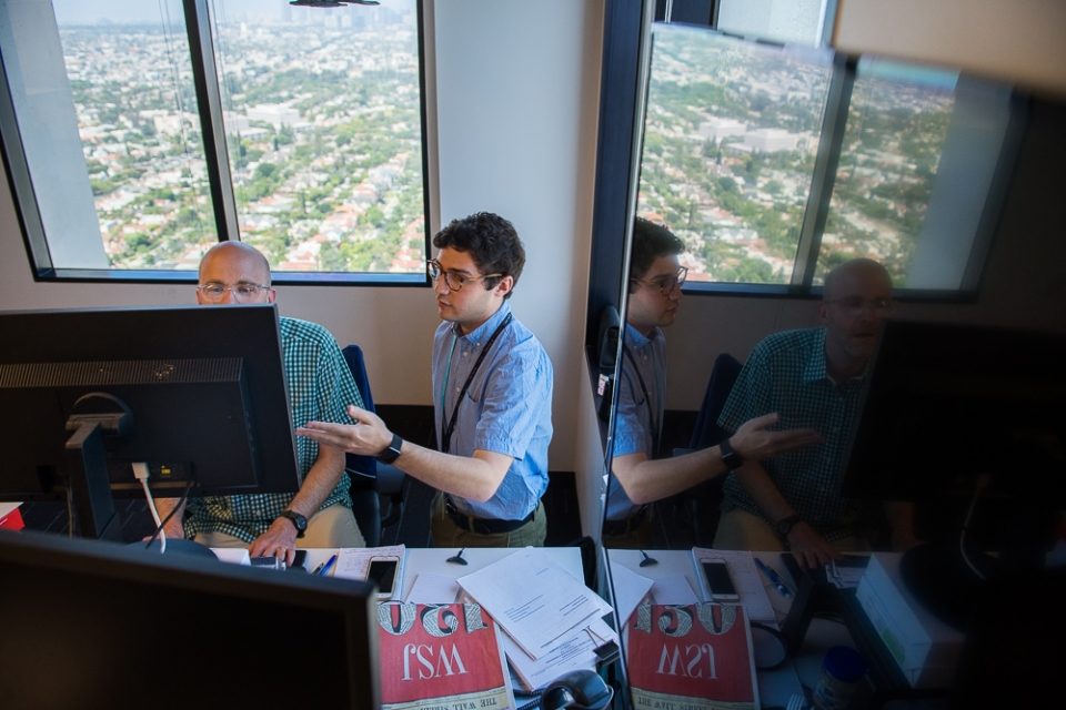 ASU alum Ethan Miller works in the LA office of the Wall Street Journal